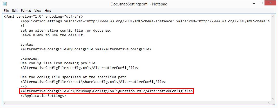 Options Configuration File
